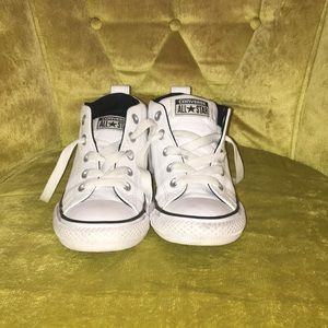 Youth size2 high top all leather converse.